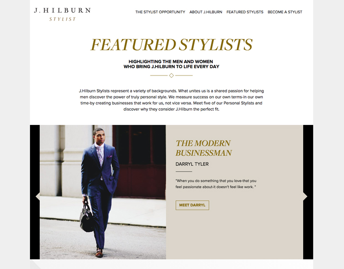 J. Hilburn Stylist Website Darryl Tyler